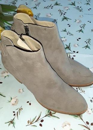 🎁1+1=3 серые кожаные полусапожки на каблуке mint velvet, натуральная кожа, 39 размер8 фото