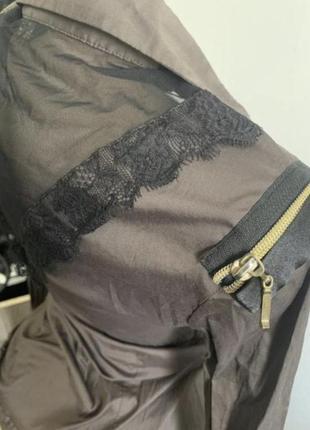 Рубашка боди в сетку боди с вырезом3 фото