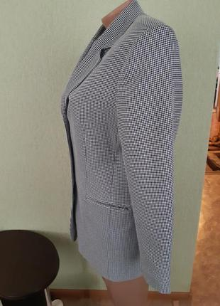 Пиджак жакет блейзер в мелкую гусиную лапку4 фото