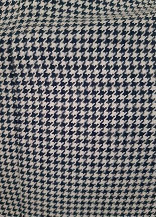 Пиджак жакет блейзер в мелкую гусиную лапку6 фото