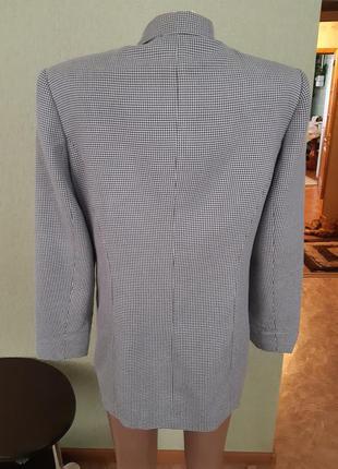 Пиджак жакет блейзер в мелкую гусиную лапку5 фото