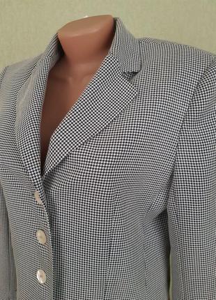 Пиджак жакет блейзер в мелкую гусиную лапку2 фото