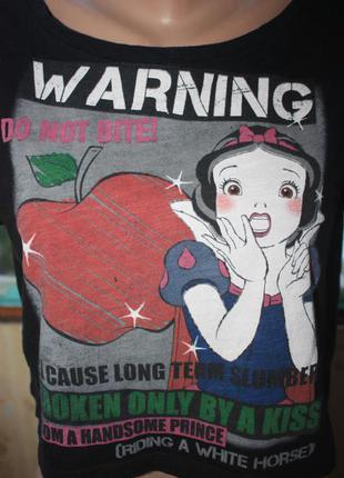Модная футболка топ с белоснежкой2 фото