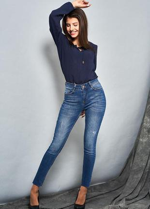 Выбеленные джинсы-скинни1 фото
