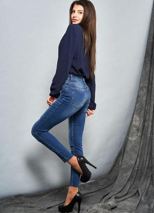 Выбеленные джинсы-скинни3 фото