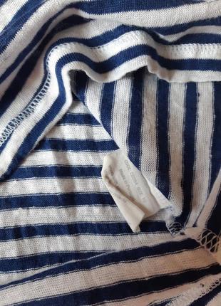 Стильный льняной реглан в полосочку с-м-л4 фото