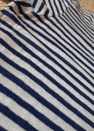 Стильный льняной реглан в полосочку с-м-л5 фото
