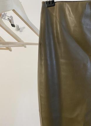 Штани з якісної екошкіри3 фото
