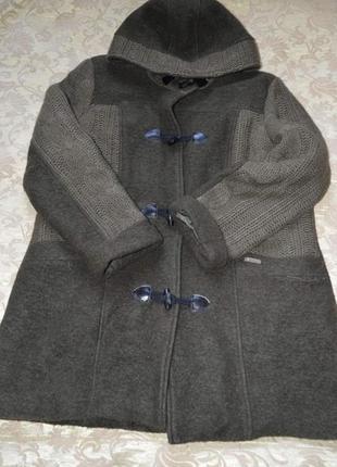 Пальто шерстяное италия (серое и коричневое)