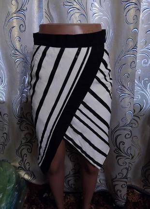 Крутая полосатая юбка h&m2 фото