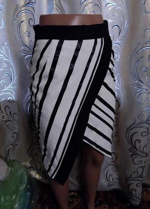 Крутая полосатая юбка h&m3 фото