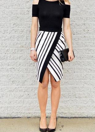 Крутая полосатая юбка h&m1 фото