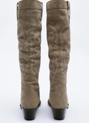 Шкіряні чоботи zara2 фото