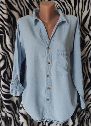 Супер модная джинсовая рубашка 12-14р