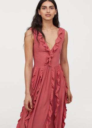 Натуральное платье h&m, большой размер.1 фото