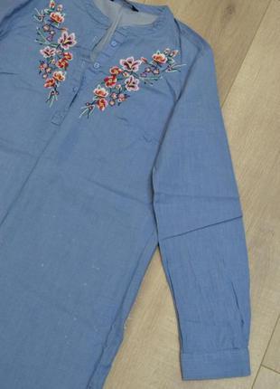 Рубашка туника с вышивкой3 фото