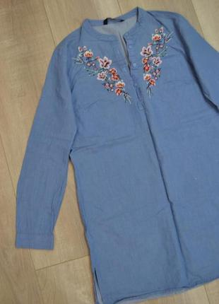 Рубашка туника с вышивкой