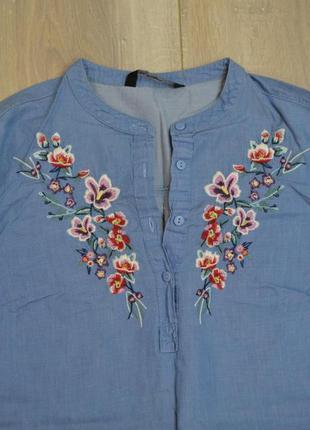 Рубашка туника с вышивкой4 фото