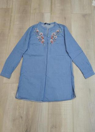 Рубашка туника с вышивкой2 фото