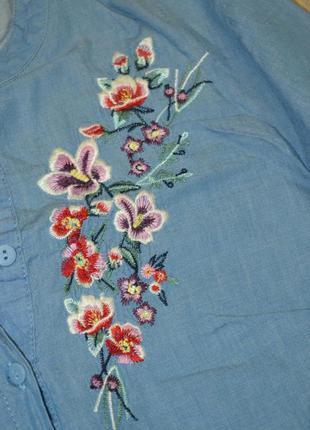 Рубашка туника с вышивкой5 фото
