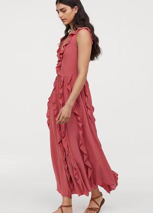 Натуральное платье h&m, большой размер.2 фото