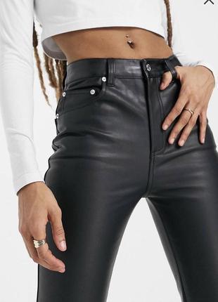 Новые прямые брюки под кожу кожаные штаны  asos zara2 фото