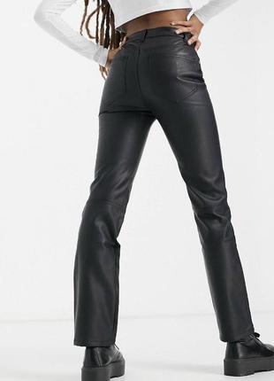 Новые прямые брюки под кожу кожаные штаны  asos zara3 фото