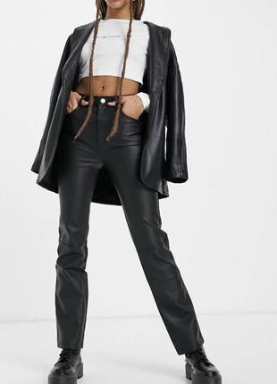 Новые прямые брюки под кожу кожаные штаны  asos zara4 фото