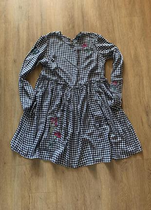 Платье в клетку м свободное1 фото
