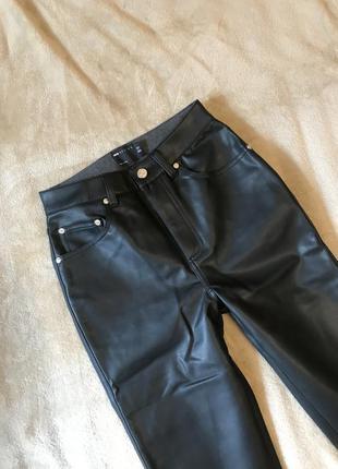Новые прямые брюки под кожу кожаные штаны  asos zara6 фото