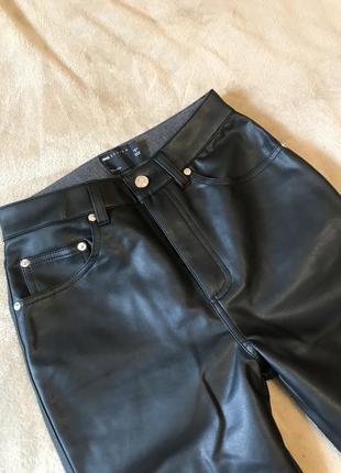 Новые прямые брюки под кожу кожаные штаны  asos zara5 фото