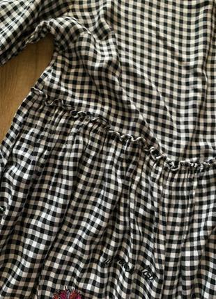 Платье в клетку м свободное3 фото