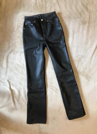 Новые прямые брюки под кожу кожаные штаны  asos zara7 фото