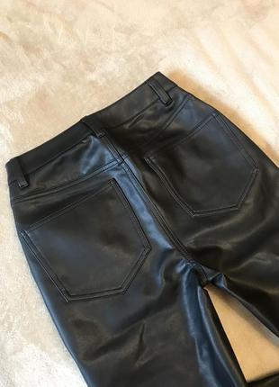 Новые прямые брюки под кожу кожаные штаны  asos zara9 фото
