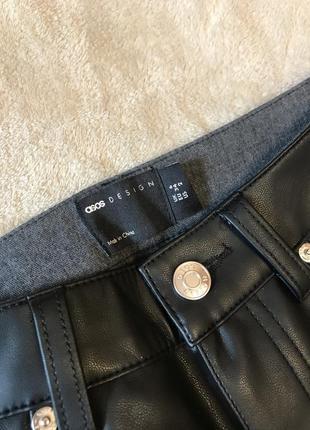 Новые прямые брюки под кожу кожаные штаны  asos zara8 фото