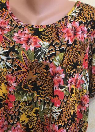 Яркая футболка (вискоза) -батал-24 размер2 фото