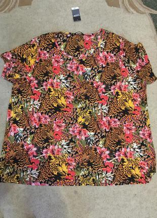 Яркая футболка (вискоза) -батал-24 размер5 фото