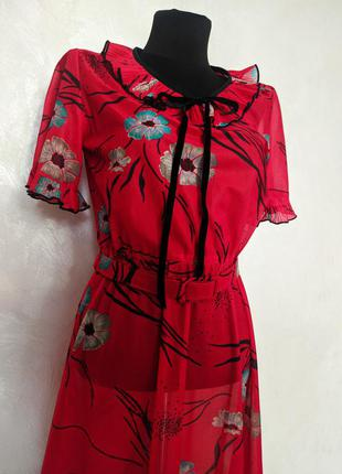 Винтажное платье с воротником англия винтаж для фотосессии2 фото