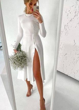 Платье рубчик2 фото