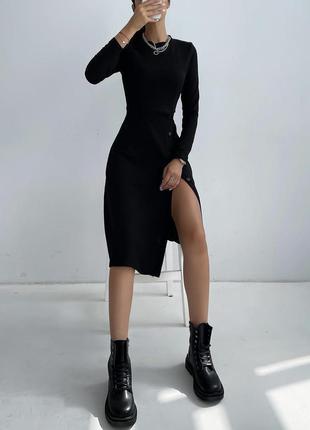 Платье рубчик4 фото