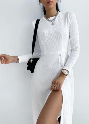Платье рубчик1 фото