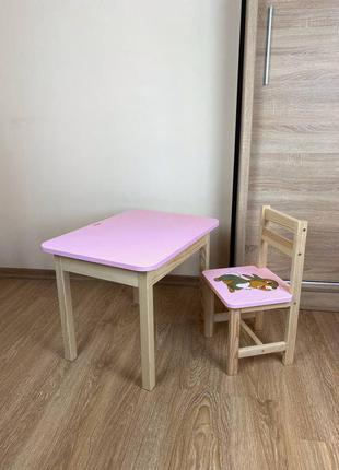 Классный детский комплект стол + стул для возраста 1-6 лет