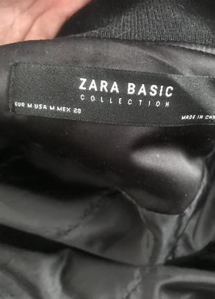 Базовая чёрная куртка бомбер zara4 фото