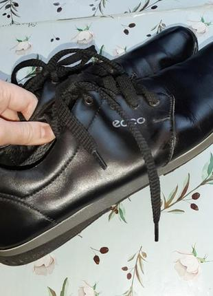 🌿1+1=3 фирменные черные кожаные женские кроссовки ecco натуральная кожа, 39 размер2 фото