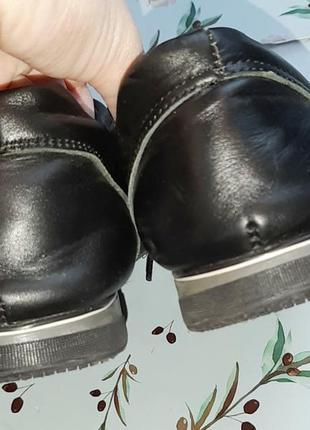 🌿1+1=3 фирменные черные кожаные женские кроссовки ecco натуральная кожа, 39 размер3 фото
