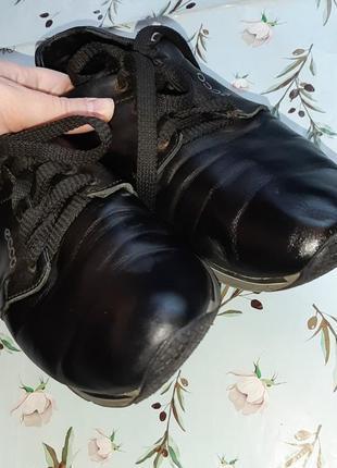 🌿1+1=3 фирменные черные кожаные женские кроссовки ecco натуральная кожа, 39 размер4 фото