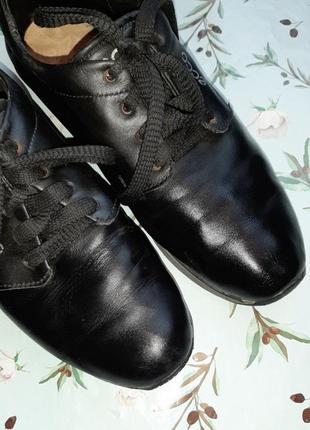 🌿1+1=3 фирменные черные кожаные женские кроссовки ecco натуральная кожа, 39 размер5 фото