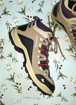 🎁1+1=3 шикарные водонепроницаемые кроссовки ботинки quechua, размер 385 фото