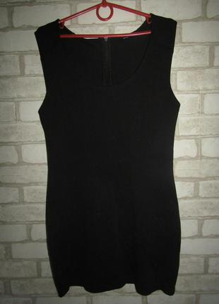 Черное платье туника р-р 38-12 стрейч