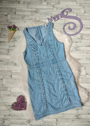 Джинсовое платье amisu женское голубое